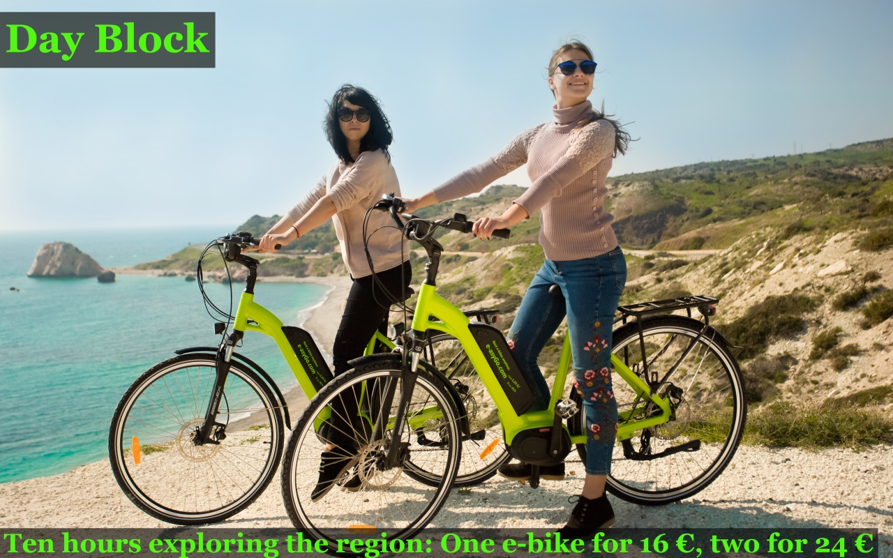 Rent e-bike in Cyprus Pissouri Kouklia Polis